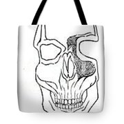 Brains Brewing Skull Design By Warwickart Tote Bag