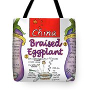 Braised Eggplant Tote Bag by Diane Fujimoto