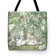 Brambly Hedge - Hawthorn Blossom And Babies Tote Bag