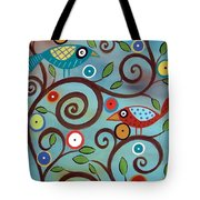 Branch Birds Tote Bag by Karla Gerard