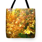 Branch Of Autumn Leaves Tote Bag