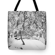 Branches In Snow Tote Bag
