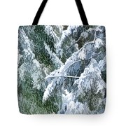 Branches In Winter Season With Fresh Fallen Snow Tote Bag