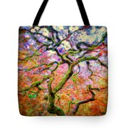Branching Out In Autumn Neon Tote Bag