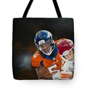Brandon Marshall Tote Bag by Don Medina