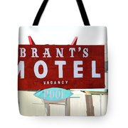 Brants Motel Sign Barstow Tote Bag
