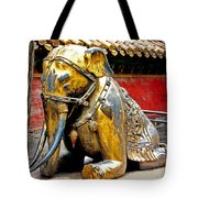 Brass Elephant Tote Bag
