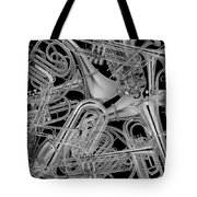 Brass Instruments Bw Tote Bag