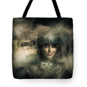 Brave Army Pinup Tote Bag
