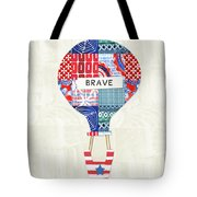 Brave Balloon- Art By Linda Woods Tote Bag