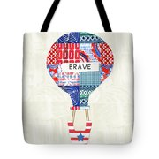 Brave Balloon- Art By Linda Woods Tote Bag