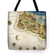 Brazil: Map And Native Indians Tote Bag