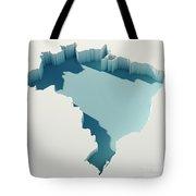 Brazil Simple Intrusion Map 3d Render Tote Bag