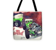 Brazilian Hot Rod V8 Tote Bag
