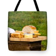 Bread With Butter On Cutting Board Tote Bag