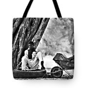 Break From The African Sun Black And White Tote Bag