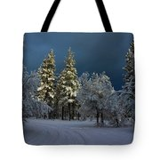 Break In The Storm Tote Bag by James Eddy