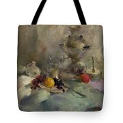 Breakfast Aristocrat Tote Bag