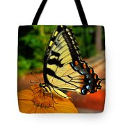 Breakfast At The Gardens - Swallowtail Butterfly 005 Tote Bag
