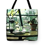 Breakfast Coffee Table Tote Bag
