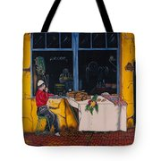 Breakfast In Capri Tote Bag