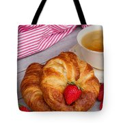 Breakfast With Croissants Tote Bag