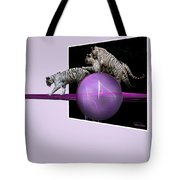 Breaking Out White Tigers Tote Bag