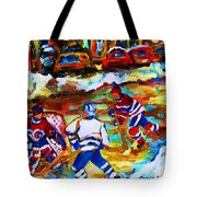 Breaking  The Ice Tote Bag