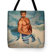 Breaking The Wave Tote Bag