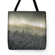 Breaking Through The Darkness Tote Bag