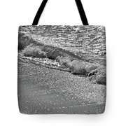 Breaking Wave In Black And White Tote Bag