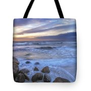 Breaking Waves At Old Silver Beach Tote Bag