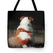 Breaktime Quote Tote Bag