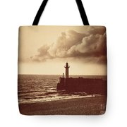 Breakwater At Sete Tote Bag