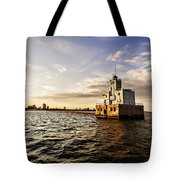 Breakwater Lighthouse Tote Bag