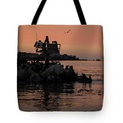 Breakwater Sunset Tote Bag