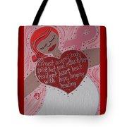 Breast Cancer Goddess Tote Bag