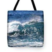 Breathe Like Water Kashmir Blue Sapphire Tote Bag