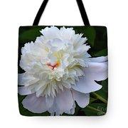 Breathtaking - Festiva Maxima Double White Peony Tote Bag