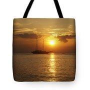 Breathtaking Sailboat Ocean Sunset #0182 Tote Bag