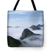 Breathtaking View From Rochers De Naye Tote Bag