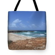 Breathtaking View Of Daimari Beach In Aruba Tote Bag