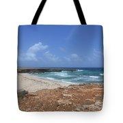 Breathtaking View Of Daimari Beach In Aruba Tote Bag