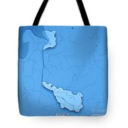 Bremen Bundesland Germany 3d Render Topographic Map Blue Border Tote Bag