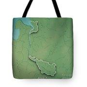 Bremen Bundesland Germany 3d Render Topographic Map Border Tote Bag