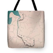 Bremen Bundesland Germany 3d Render Topographic Map Neutral Bord Tote Bag
