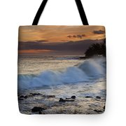 Brennecke Waves Sunset Tote Bag