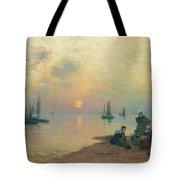 Breton Coastal Landscape At Sunset Tote Bag