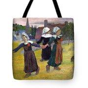 Breton Girls Dancing Pont-aven Tote Bag