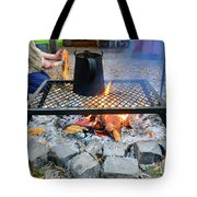 Brewing Outdoors Tote Bag